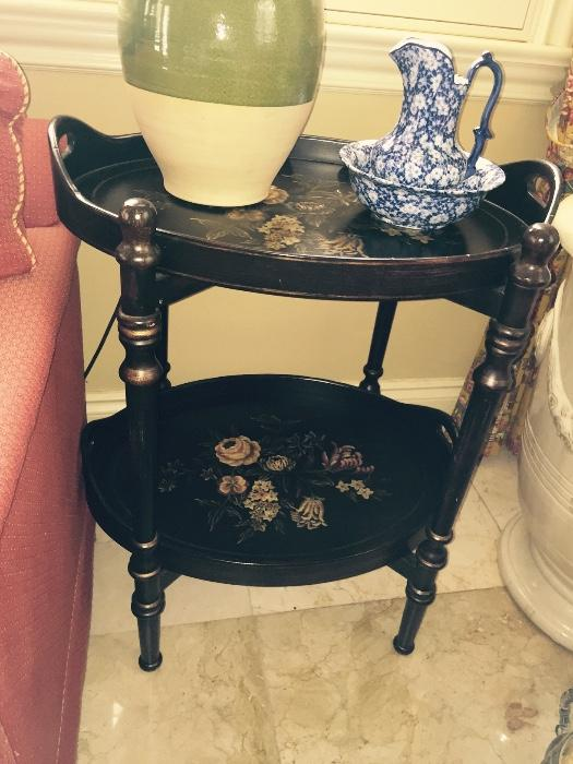 Hand Painted 2 tier table