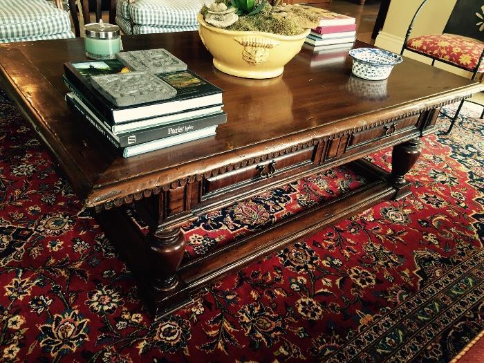 Fabulous Large Wood Coffee Table