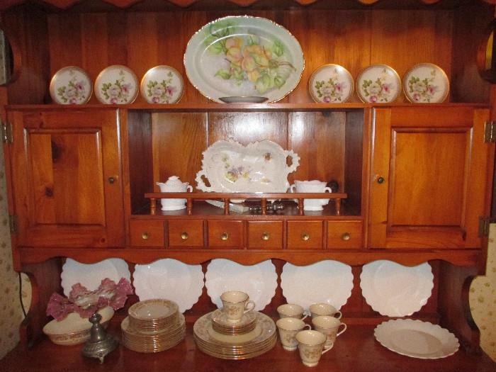 O. & E.G. Royal Austria (7) Hand Painted Plates, Brunswick Germany Platter, Westmoreland, Lenox