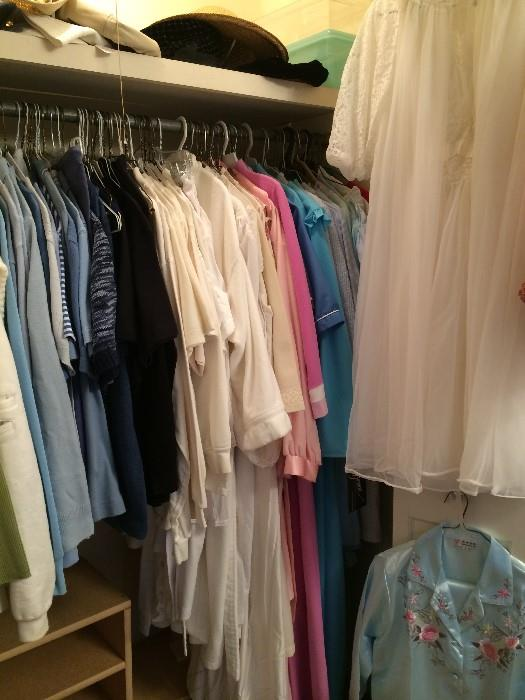 Many clothes including nightwear