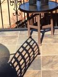 OUTDOOR OCCASIONAL TABLE MATCHES TABLE, CHARS AND CHAISE LOUNGE