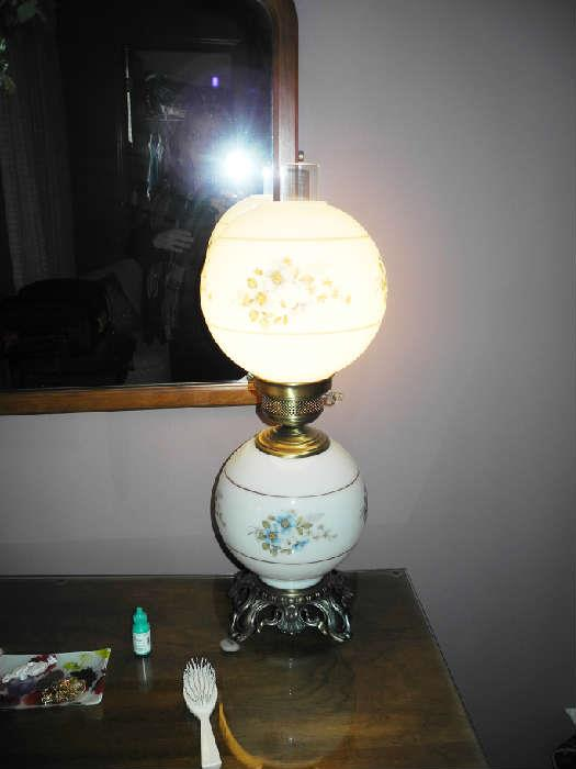 Beautiful hurricane lamp
