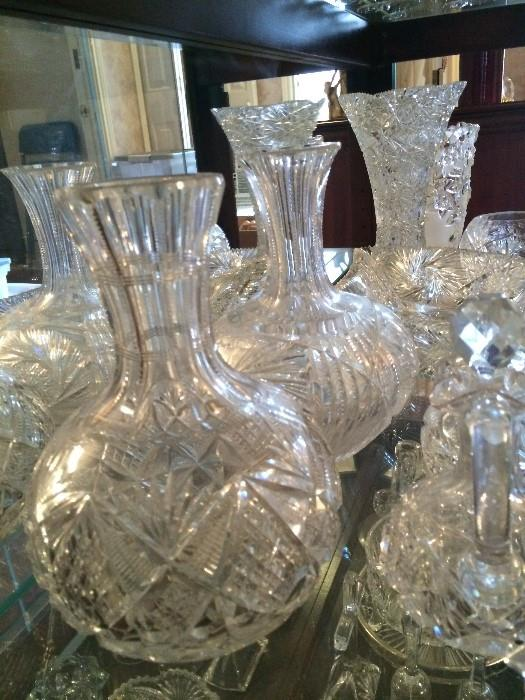 Decanters and other serving pieces