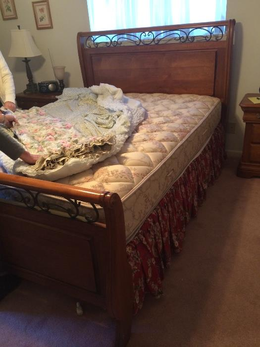 Full bed has matching chest, dresser & nightstands.