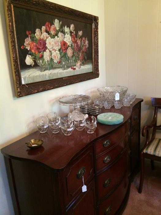 Server has matching table, chairs, and china cabinet (priced separately)