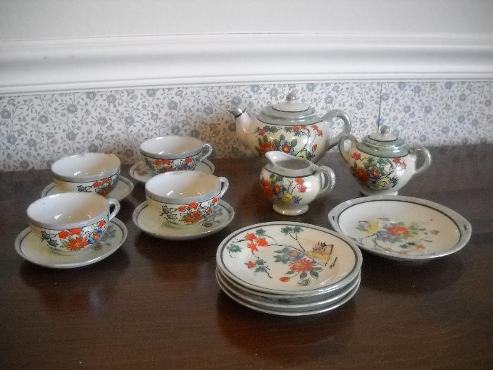 Childs china tea set Japan.
