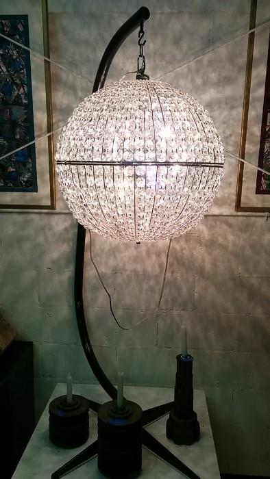 AHHH! When's the last time you had the chance to buy such a wonderful hanging crystal ball floor lamp thing? I knooooooow!