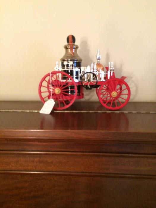 Decanter: Replica of an 1857 Mississippi fire truck