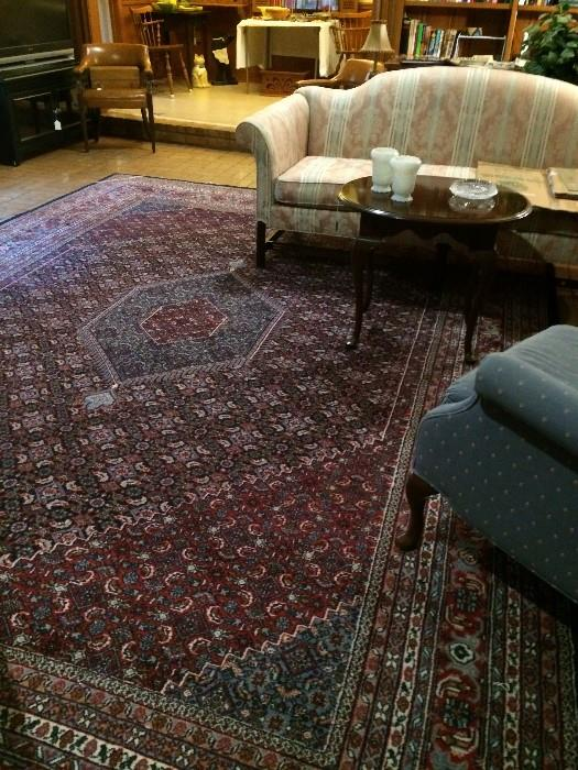 Sofa, wingback chair, and  made 10 x 14 rug