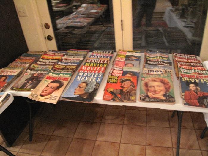 1930's - 1950's Movie Magazines, Excellent Condition