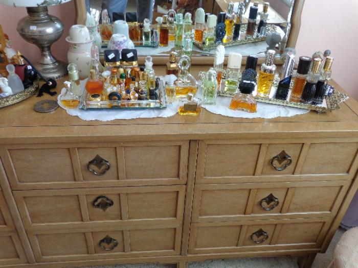 large selection of perfume bottles
