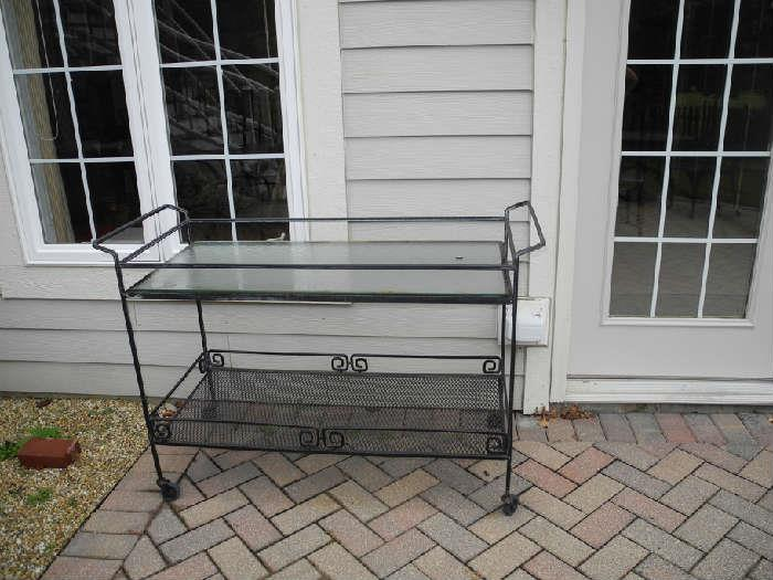 Lovely wrought iron patio cart