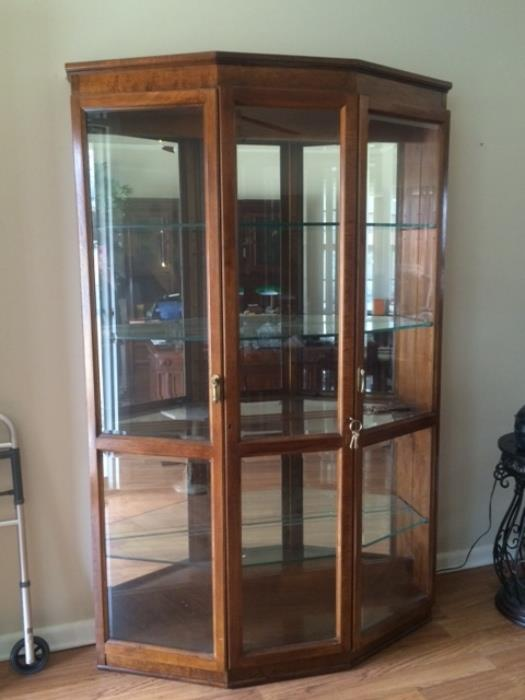 one of a pair of oversized display cases