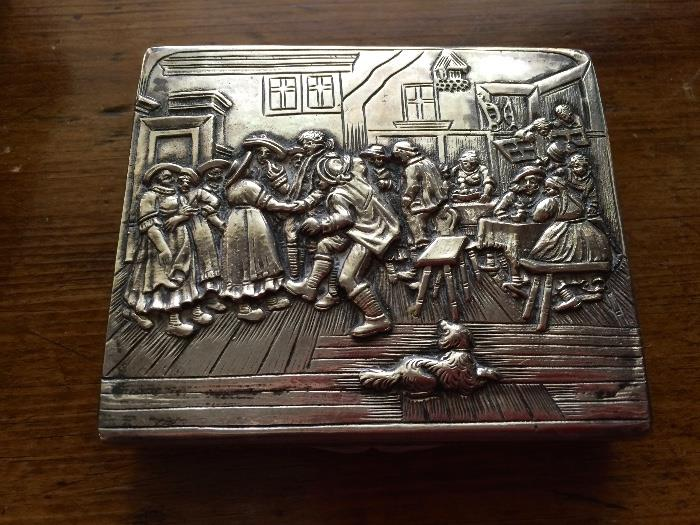 Sterling Silver Large Snuff Box