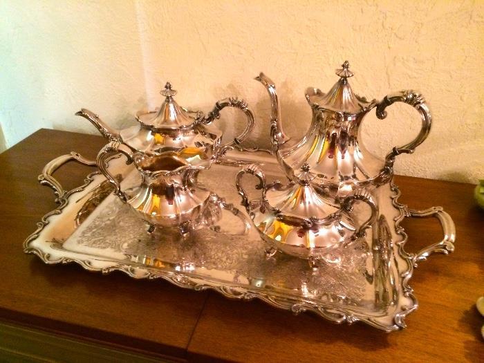 Silver Plate Victorian Pattern Tea Service
