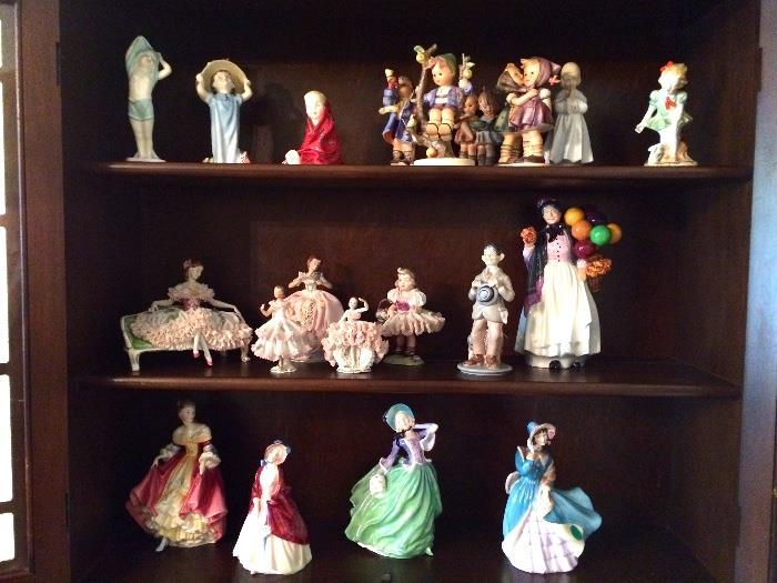 Hummels, Royal Dolton, Dresden and Other Figurines