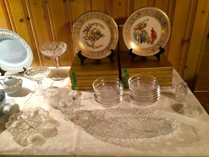 Lenox Collectible Plates, Val St. Lambert & Waterford Crystal