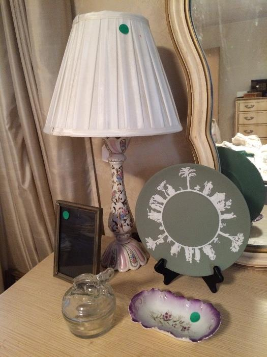 Hand Painted Porcelain Boudoir Lamps and More