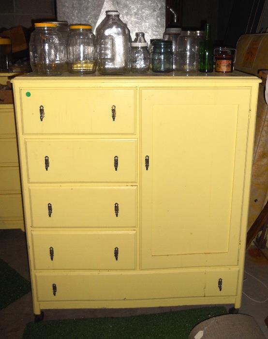 Vintage Children's Dresser, Chifferobe, Crib and More