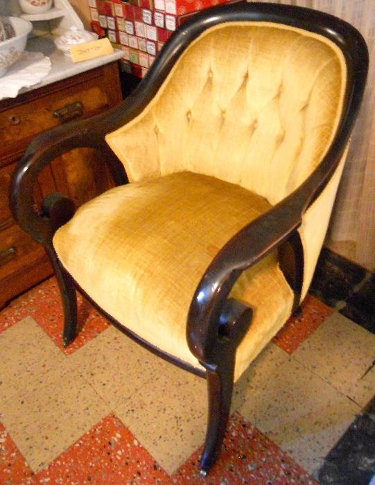 Regency Style Arm Chair on Casters
