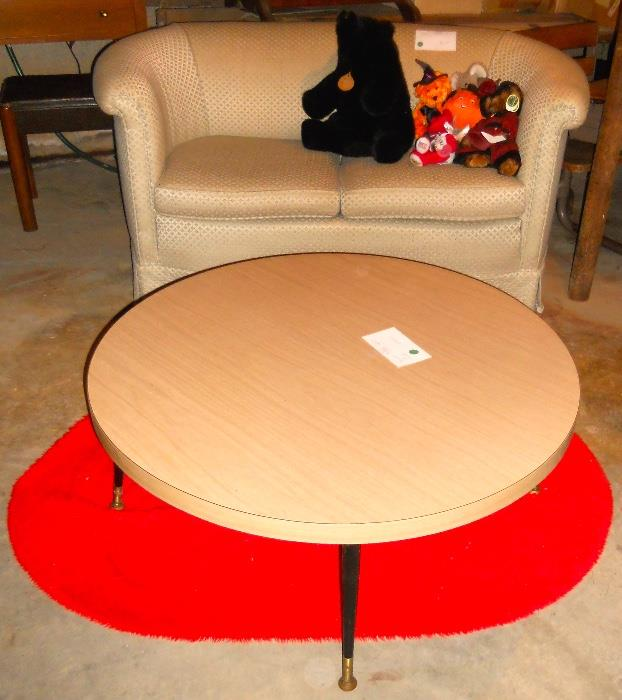 Retro Coffee Table and Loveseat