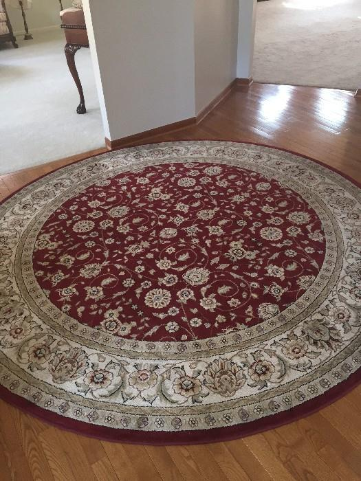 SAFAVIEH LYNDHURST COLLECTION 8' ROUND RED RUG