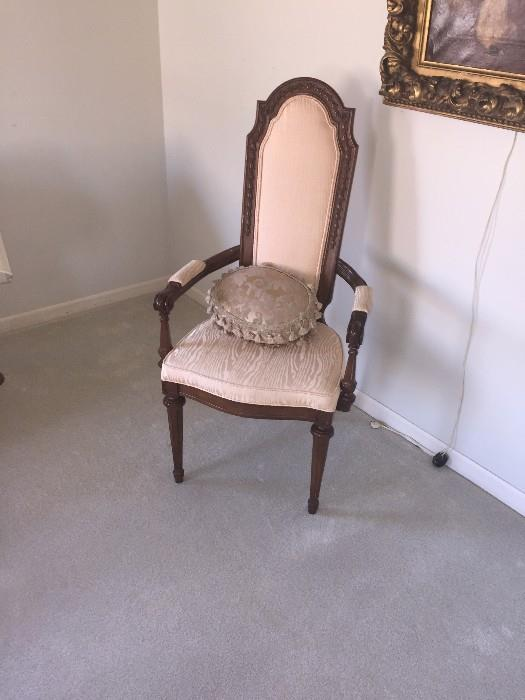 ANTIQUE TALL BACK THRONE CHAIR