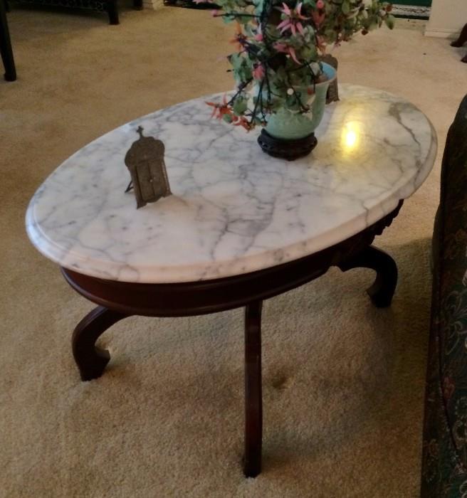 Mahogany & Marble coffee Table
