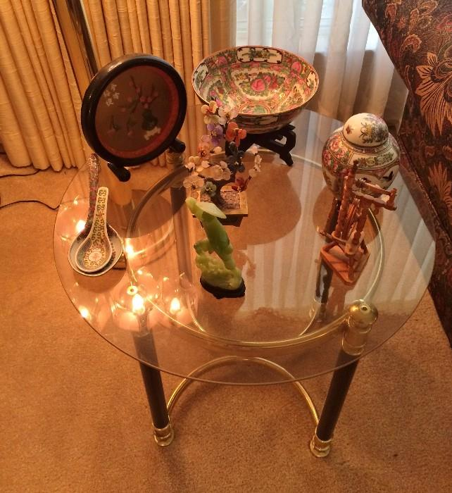Glass & Brass Coffee and end tables