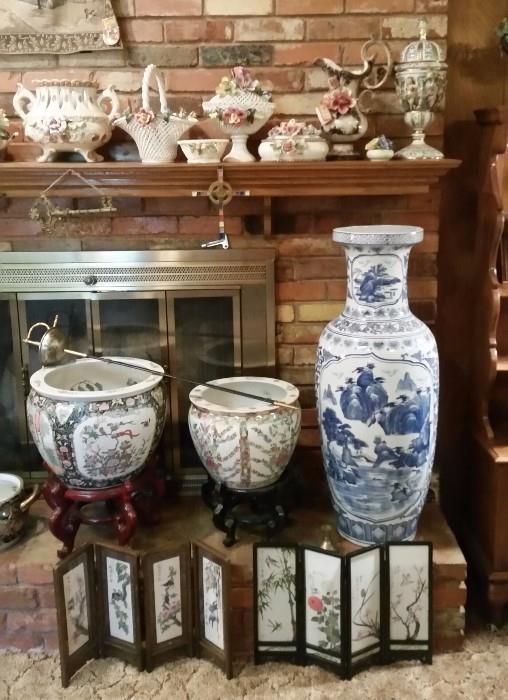Asian Decor Galore- Large Vases/pots, screens, etc.....