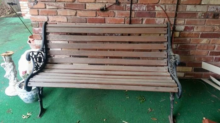 Nice outdoor Park Bench