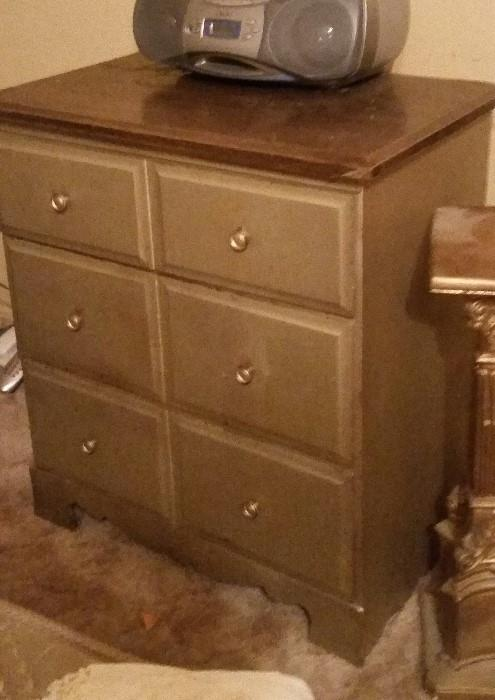 Several Shabby Chic Dressers and Chests