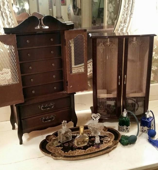 Nice Jewelry Boxes (some musical), perfume bottles, etc....