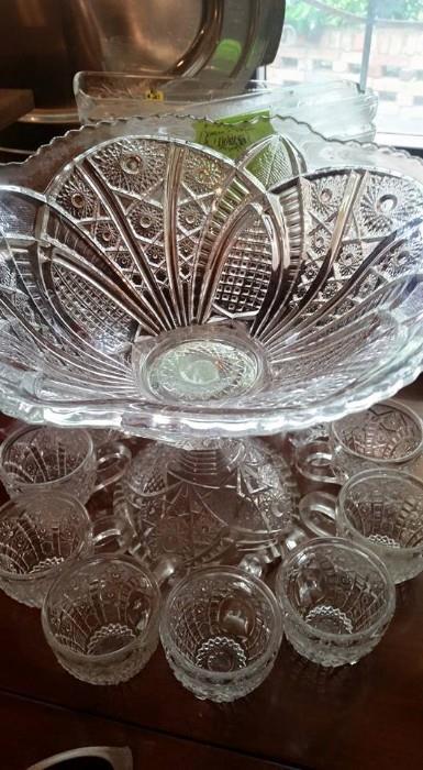 (2) Beautiful Punch Bowl sets