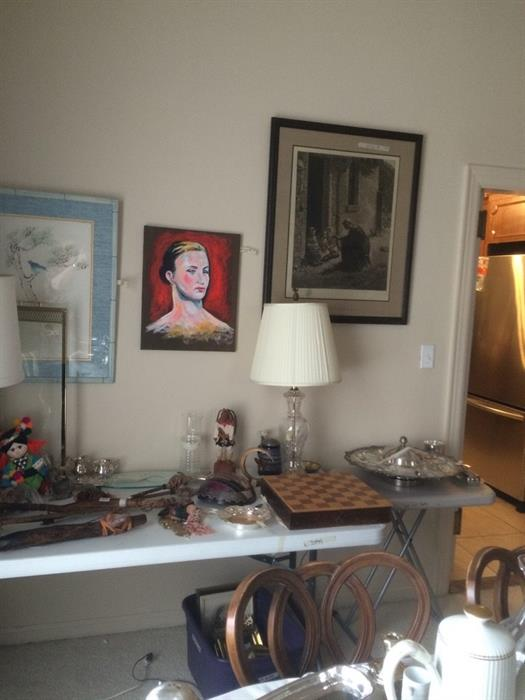 paintings, prints, more silver and another chess set among the treasures