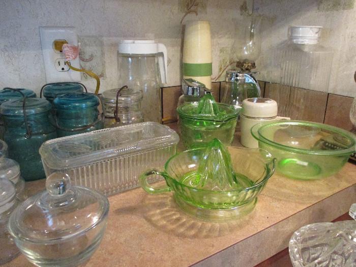 Vintage 40s & 50s glass pieces