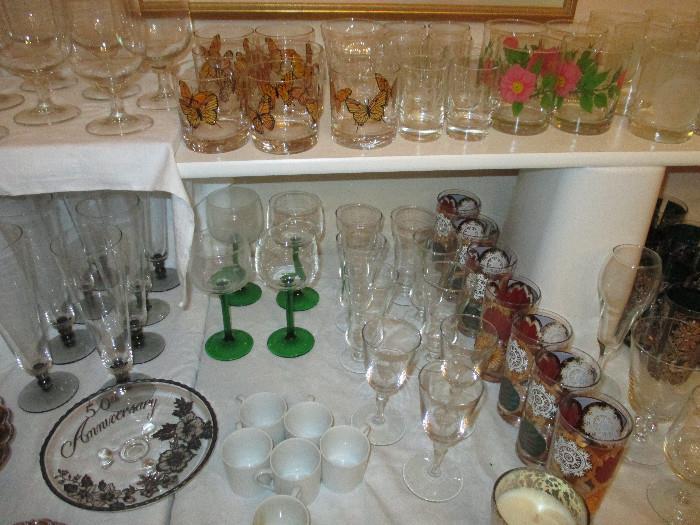 Capri By California Butterfly Glassware, Vintage Pasinski Glassware