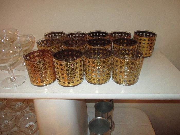 Vintage Patiorose Old Fashion Barware