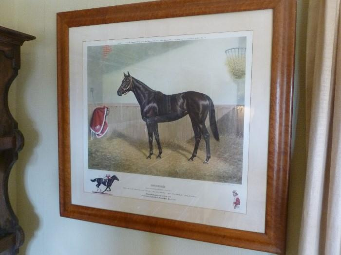 Richard Stone Reeves, Ruffian print, signed by Reeves, the jockey and the owner.  (one of three)