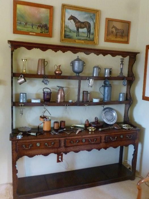 English Oak Dresser, 18th century.