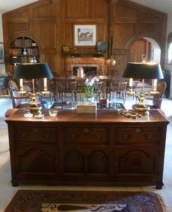 English, George I, oak cabinet.