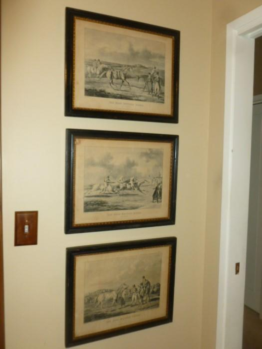 Antique horse prints.