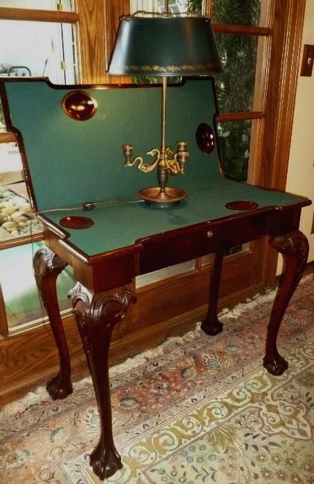 Antique Chippendale game table