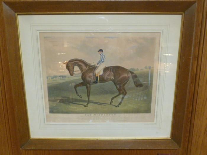 Horse racing art.
