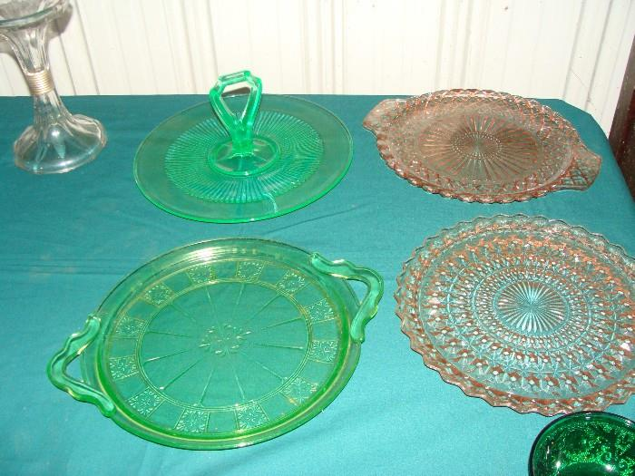 Just a part of the hundreds of pieces of glassware from turn of the century to depression to the 1960's.