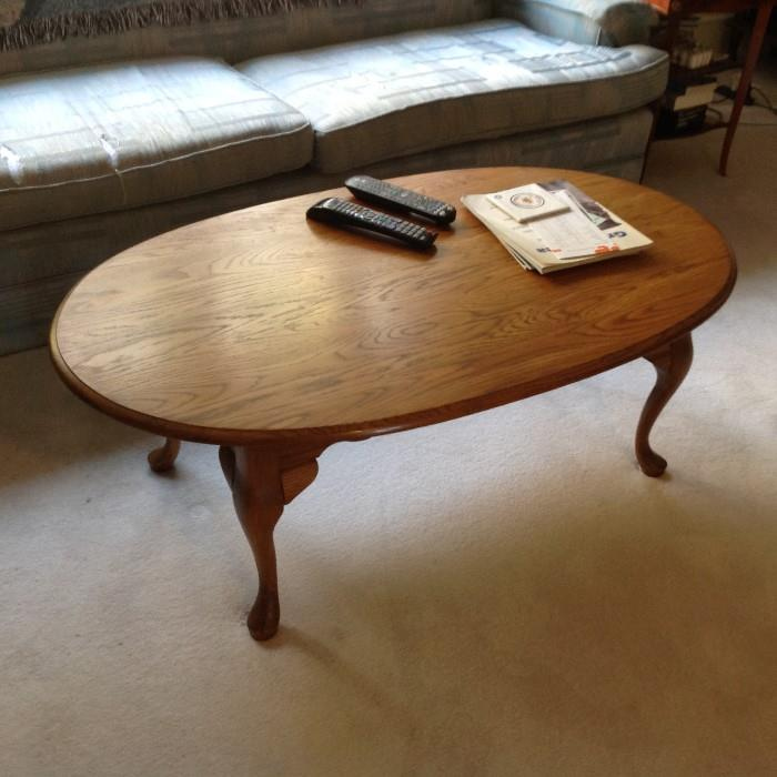 Oval Coffee Table - $ 80.00