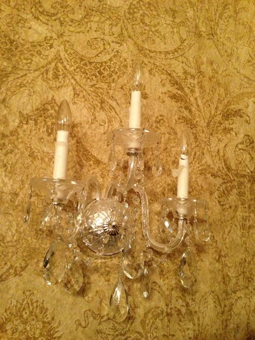 Italian Crystal Sconces