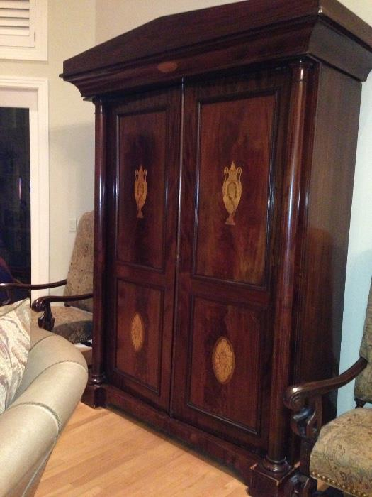 Antique Inlaid Armoire