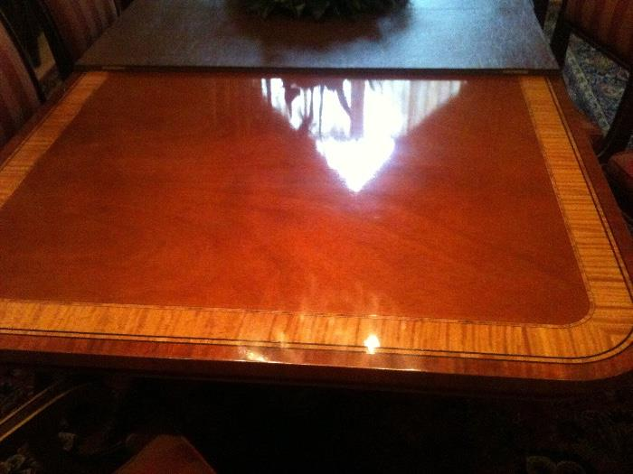 Beautiful Inlaid Wood Dining Room Set