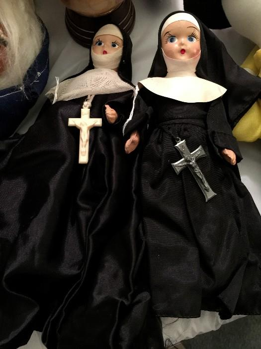 Great Antique Nun Dolls.